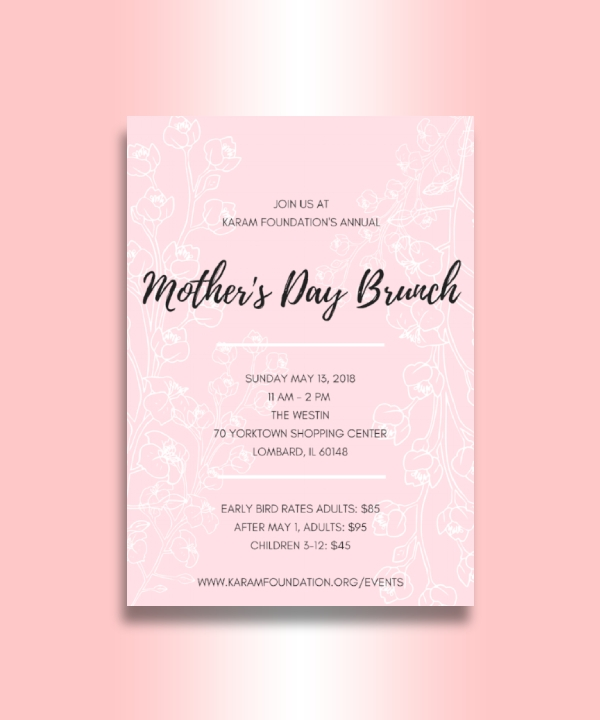 foundation annual mothers day brunch invitation