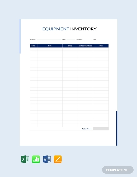 Free 10 Best Equipment Inventory Examples Templates Download Now Examples