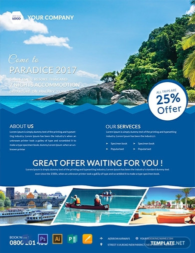 free fresh travel flyer template