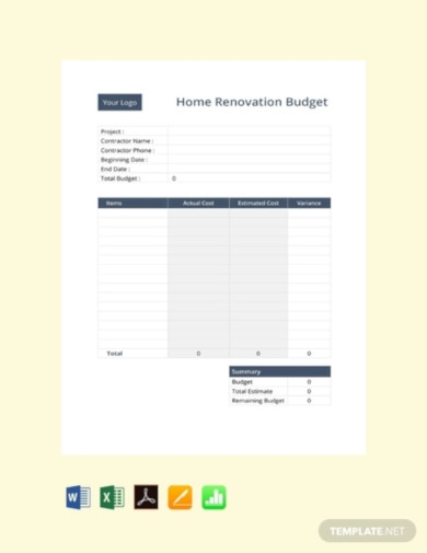 free home renovation budget template1