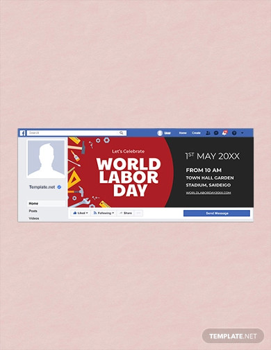 free labor day facebook event cover template
