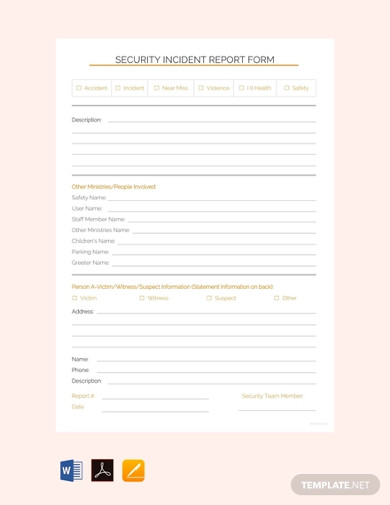 free security incident report template