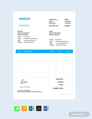 free simple invoice format