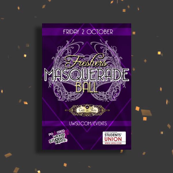 freshers masquerade ball invitation