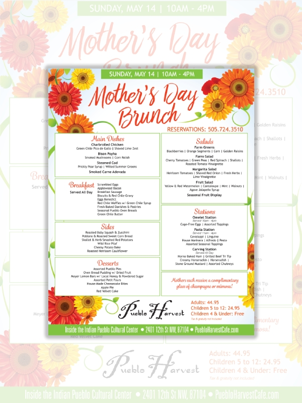 full course mothers day menu
