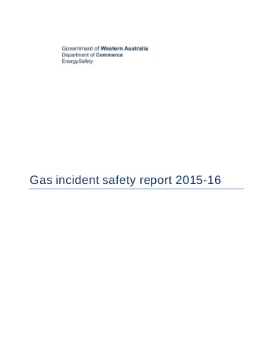 gas incident safety report