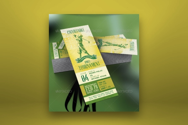 golf sports event ticket