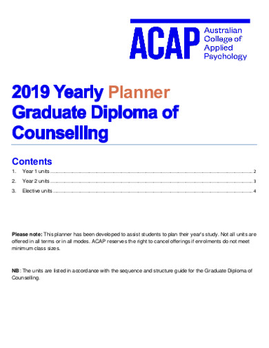 graduate yearly planner