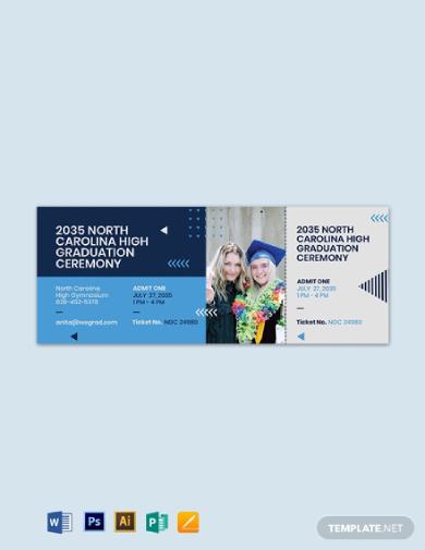graduation party ticket