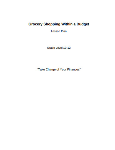 grocery shopping within a budget