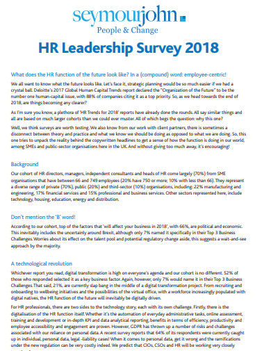 hr leadership survey