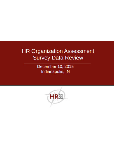 hr organization assessment survey data review
