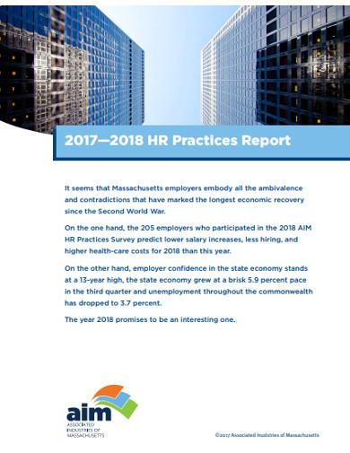 hr practices survey report