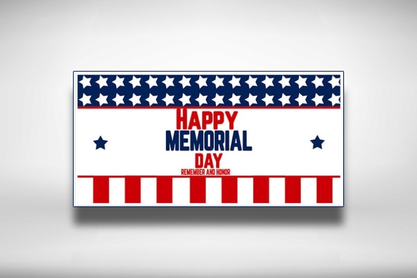 happy memorial day party banner