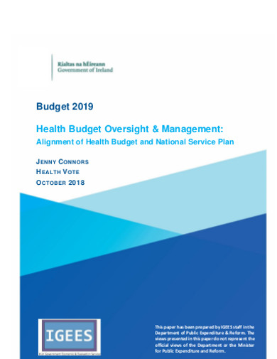 health budget oversight management