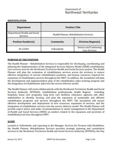 health planner in pdf
