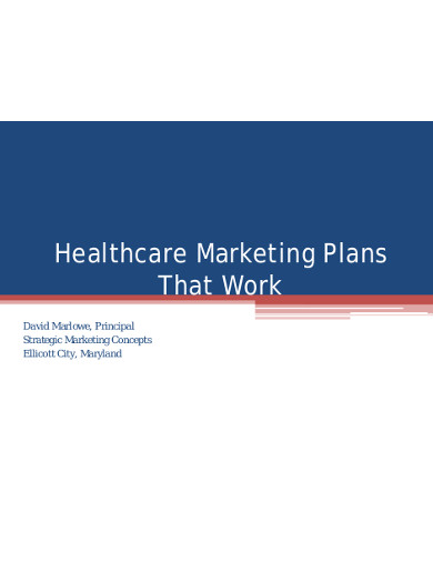 healthcare marketing plans that work