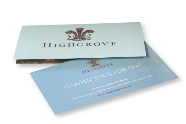 highgrove garden tour gift voucher