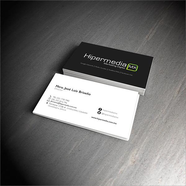 hipermedia marketing business card