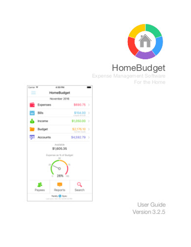 home budget sample
