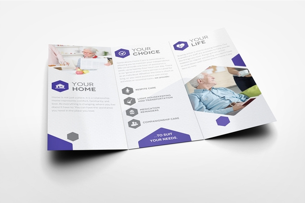 home care center trifold brochure