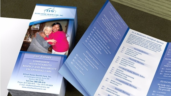 home health care services trifold brochure