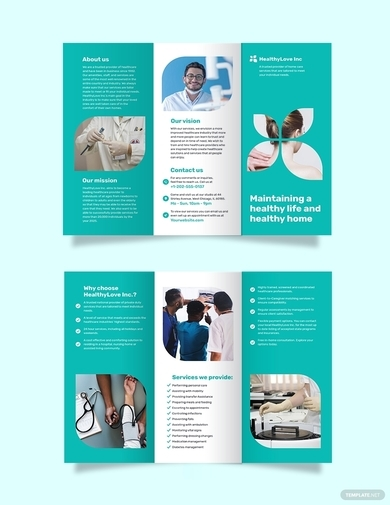 home healthcare trifold brochure