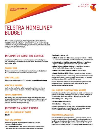 homeline budget