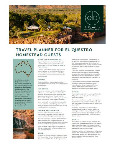 homestead travel planner