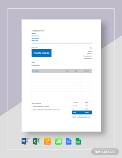 hourly invoice template1