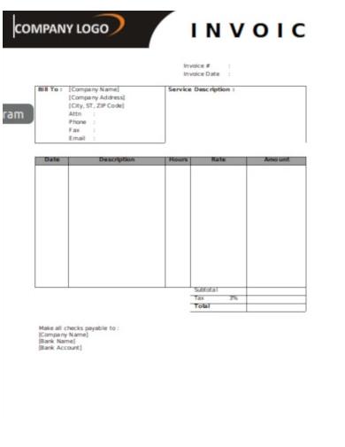 hourly service invoice1