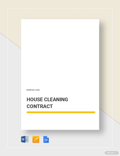 house cleaning business contract