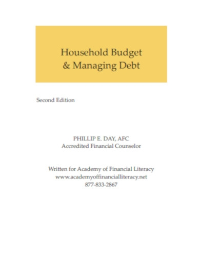 household budget managing