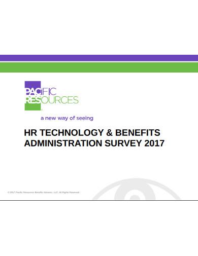 hr technology benfits administration survey
