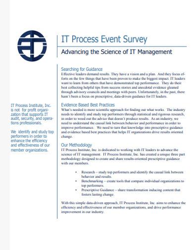 it process event survey