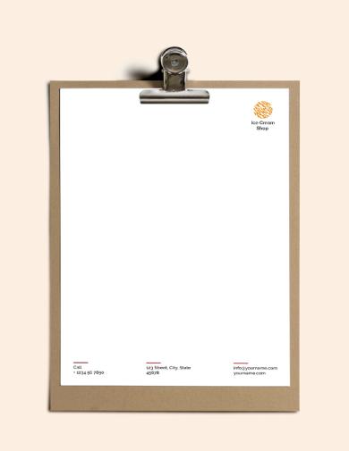 icecream letterhead