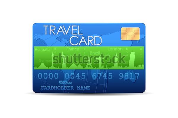 illustration of travel card