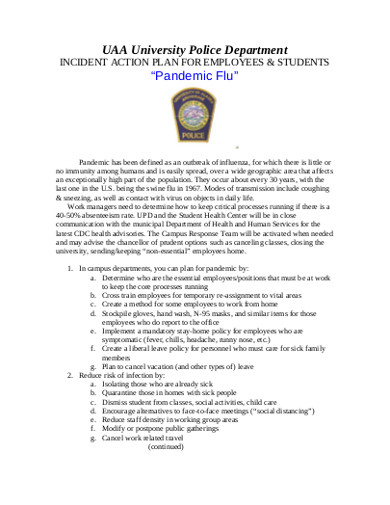 incident action plan for employees students