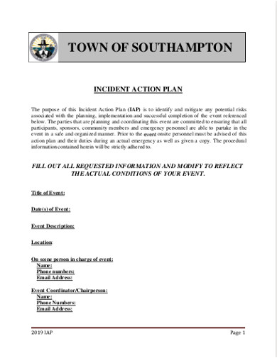 incident action plan sample1