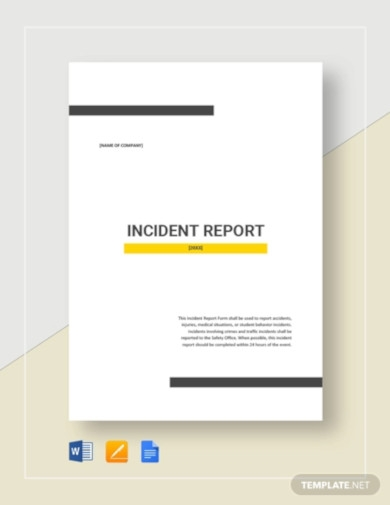 incident report template2