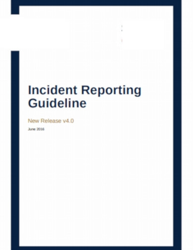 incident reporting guid line