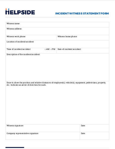 incident witness statement form