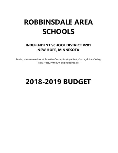 independed school budget