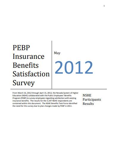insurance benefits satisfaction survey