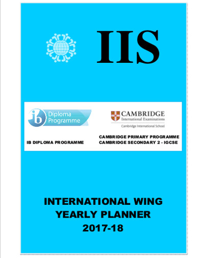 international wing yearly planner