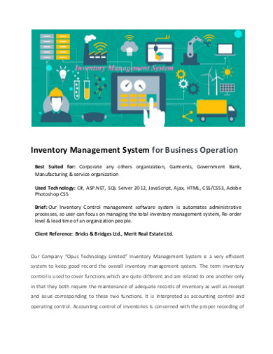 inventory management system business operation