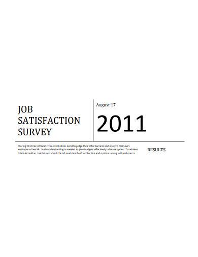 job satisfaction sruvey example