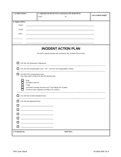 joint incident action plan1
