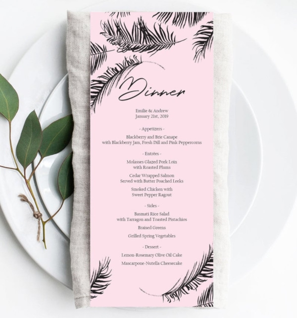 leaf event menu