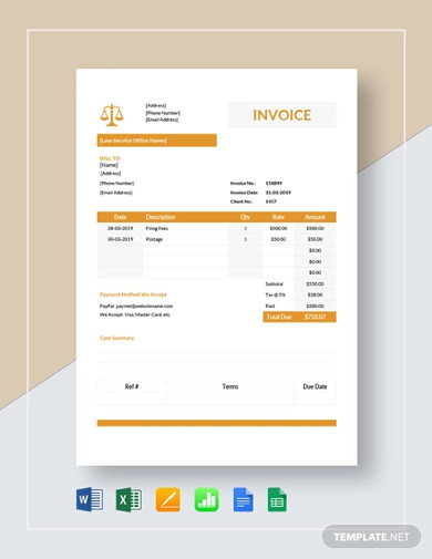 Free 10 Legal Invoice Examples Templates Download Now Examples